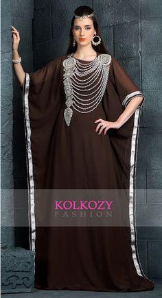 Classic Brown Color Arabic Kaftan Dress Very Fancy by KolkozyShop