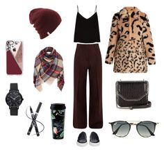 """""""Winter look"""" by stacyco ❤ liked on Polyvore featuring Raey, Common Projects, Shrimps, STELLA McCARTNEY, Ray-Ban, Casetify, Christian Paul and Kate Spade"""