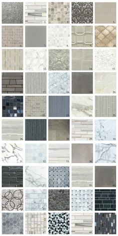 "With a little artistic license and stretching the ""shades"" of grey a bit outside of the lines we give you our Walker Zanger ""Fifty Shades of Grey"". OUR GUIDE TO GREY Oceanside … Kitchen Redo, Kitchen And Bath, New Kitchen, Kitchen Remodel, Kitchen Design, Kitchen Refacing, Grey Backsplash, Kitchen Backsplash, Backsplash Ideas"