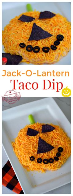 """Jack-O-Lantern Taco Dip Halloween Appetizer This Halloween Appetizer Recipe is perfect for feeding a crowd. It's fun, easy and so delicious. The perfect appetizer for kids or adults.""""},""""grid_title"""":""""Jack-O-Lantern Taco Dip A Fun Halloween Appetizer Recipe Halloween Taco Dip, Halloween Puppy, Diy Halloween Treats, Halloween Party Appetizers, Easy Halloween Food, Appetizers For Kids, Appetizer Recipes, Halloween Parties, Dip Recipes"""