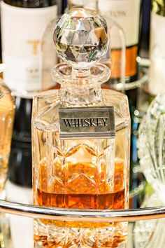 Use decanters to add some sophistication to your bar cart | 15 Great Gatsby Party Ideas
