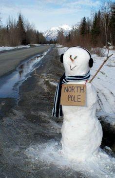 Schneemann bauen - lustiger Schneemann