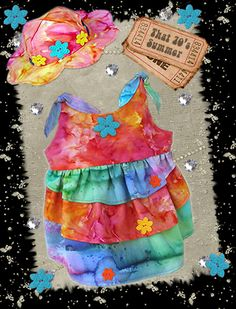 Retro dress dog clothes sewing pattern by http://missdaisydesigns.com
