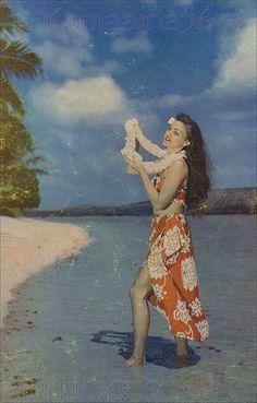 Kahala Beach Wahine c1953