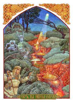 ros now korolkow noc kupały Fairy Tale Theme, Fairy Tales, Fantasy Kunst, Fantasy Art, European History, Art History, Russian Folk Art, High Fantasy, Sacred Art