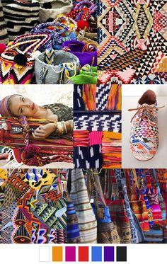 Geometric mood board | colour inspiration | surface pattern design | textile design