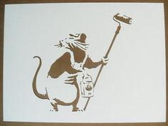 BANKSY Rats Stencils Set Of Five Mortar Bombers, Road Drill, Painter, Flying Paintbrush, Hip Hop via Etsy