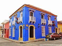 fachada azul com laranja - Pesquisa Google