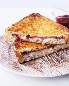 Turkey cranberry grilled cheese.