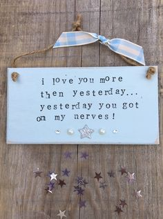 £6.00 ~ Personalised  wooden plaque ~ quote ~ fun ~ handmade ~ home decor ~ blue ~ hanging plaque. visit us on facebook for more designs