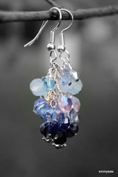 Perfectly frosty earrings by Miss Kim Hora of KimmyKats inspired by the Greenland Coast palette