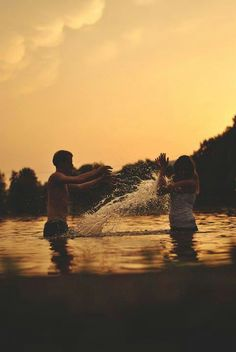 Play fights and water fights :)