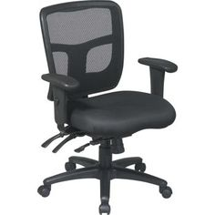 Office Star Pro-Line II Series Mid-Back Desk Chair Upholstery: Mime - Winery Chamois, Cheap Office Chairs, Office Star, Ergonomic Office Chair, Office Seating, Furniture Upholstery, Upholstery Cleaning, Upholstered Chairs, Home Office Furniture