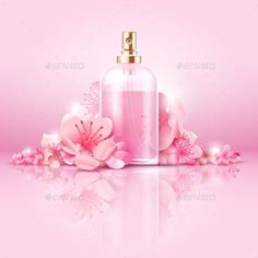 Buy Skin Care Cosmetic Vector Concept by MicrovOne on GraphicRiver. cosmetic with vitamin and collagen in bottle and sakura flowers. Cherry Blossom Background, Neon Box, Cherry Flower, 3d Video, Real Coffee, Flower Spray, Hand Drawn Flowers, Fitness Gifts, Creative Advertising