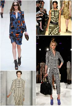 African-Inspired Spring 2012 Collections Takes Over LFW & NYFW  Suno, Burberry Prorsum, Michael Kors, Donna Karan, and L.A.M.B london fashion week {via munaluchi bride}