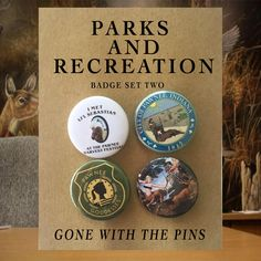 Parks and Recreation TV Show Badges, Buttons, Pins, Pinback Buttons (Pawnee Goddesses, Lil' Sebastian, Leslie Knope, Ron Swanson) by GoneWithThePins on Etsy https://www.etsy.com/listing/539658899/parks-and-recreation-tv-show-badges