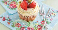 Midsummer Wedding Cupcakes Recipe | Kitchen Daily white chocolate cupcake