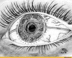 art,красивые рисунки и картины,deviantart,сlockwork eye