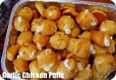 Tailgate Garlic Chicken Puffs #UltimateTailgate #Fanatics #Ducks