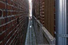 to narrow passageways.