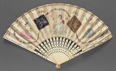 Fan American, made in England or Continental Europe ca. last quarter 18th Century