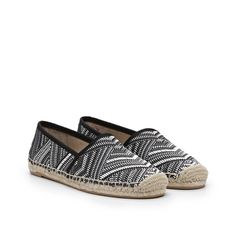 This flat slip-on espadrille is a warm weather essential paired with any daytime look. Comes in buttery leather or woven materials.Material: leather or woven
