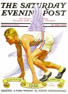 Saturday Evening Post Copyright 1936 Olympiad Berlin