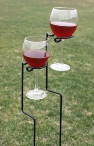 Yard Stake Wine Glass Holders