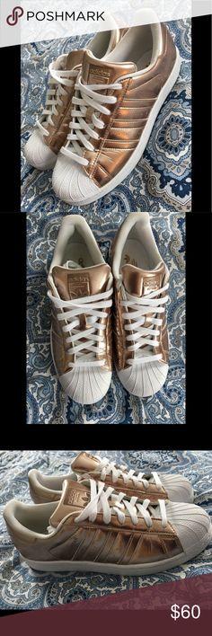 newest 3eb1b eefc5 Adidas Superstars-Metallic Adidas Superstars metallic rose gold women s sz  10 EUC gorgeous shoes adidas