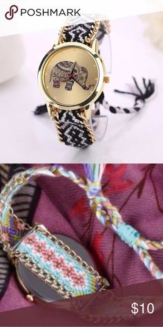 elephant necklace watch -battery included.  2nd picture is not that actual watch but shows an example of the loop tie in back Accessories Watches