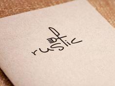 Rustic Restaurant logo simple rustic knife fork food logo restaurant