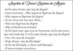 Frases Lagrimas de Alegria                                                                                                                                                     Mais