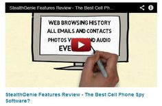 http://www.youtube.com/watch?v=GjvfYEFXbtU    New StealthGenie features review    StealthGenie review looking at some of the main features of this popular cell phone spy software. Real reviews from a real site.    stealthgenie, stealthgenie review, cell phone spy software,spy software reviews
