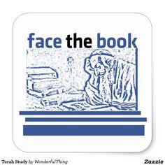 Torah Study Square Sticker