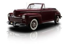1946 Ford Super Deluxe Convertible  Maroon