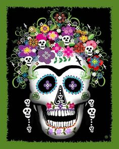 FRIDA KAHLO Day Of The Dead BLUE SU