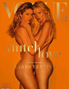 Doutzen Kroes and Lara Stone hots in a cover story by Mario Testino for the April 2017 issue of Vogue Netherlands. V Magazine, Vogue Magazine Covers, Fashion Magazine Cover, Fashion Cover, Magazine Cover Design, Vogue Covers, Lara Stone, Mario Testino, Doutzen Kroes