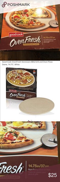 Easier Cooking /& Baking with ThermaShock Protection /& Core Convection Technology for Crunchy Bread Crusts The Ultimate 40,6 cm Round Pizza Stone Patented No-Spill Stopper for Oven /& BBQ
