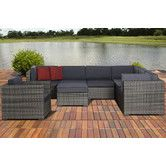 Found it at AllModern - Marseille 8 Piece Deep Seating Group with Cushions