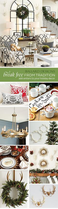 Antler Holiday Decor Ideas - Ballard Designs