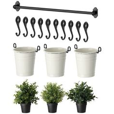 Use real plants though :) IKEA 22 Rail 10 Hooks 3 Cutlery Caddy Pot 3 Artificial Plants Herb Fintorp Small Artificial Plants, Artificial Plant Wall, Artificial Flowers, Herb Garden In Kitchen, Kitchen Herbs, Wall Herb Garden Indoor, Diy Herb Garden, Herbs Garden, Ikea Kitchen