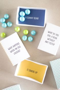 free printable matchbox jokes! Perfect for a little surprise in a back to school lunch.