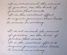 Learning The Palmer Method Of Business Writing - Page 9 - Handwriting & Handwriting Improvement Amazing Handwriting, Handwriting Styles, Handwriting Worksheets, Calligraphy Handwriting, Calligraphy Pens, Penmanship, Handwriting Practice, Copperplate Calligraphy, How To Write Calligraphy