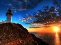 Fim de tarde no Cabo Byron, Austrália.