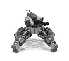 My Assault Bot, rendered in POV-Ray : lego