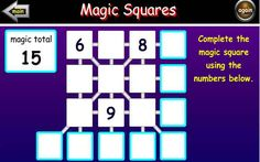 Magic Squares - 7-11 year olds - Topmarks