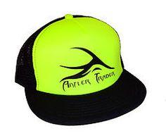 Antler Trader Logo Trucker Hat Neon Yellow Hunting   Hunters Orange    hunting apparel ed970446524
