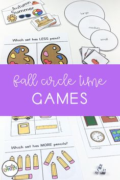 Do you need games for your whole group circle time? This HUGE pack includes 40 whole group games covering 20 different skills. Each games includes labels, instructions and the printables needed. Play Based Learning, Learning Centers, Learning Activities, Preschool Centers, Preschool Classroom, Circle Time Games, Sequence Of Events, Letter Identification, Early Reading