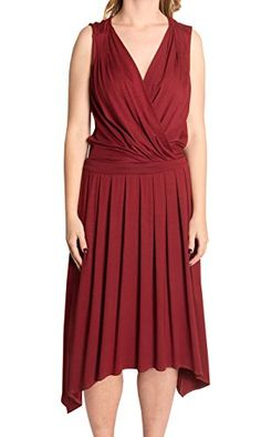 Trina Turk Women's Red Currant Sleeveless Surplice Dress, (M) only $119 (was $228) #trinaturk #red #dress