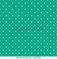 Green Seamless Geometric Pattern with Diamond  Shapes. Vector Illustration - stock vector
